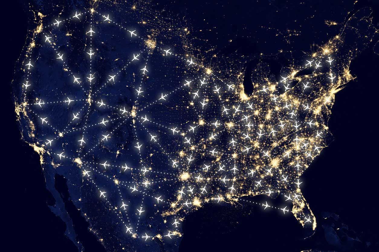 usa shipping routes map
